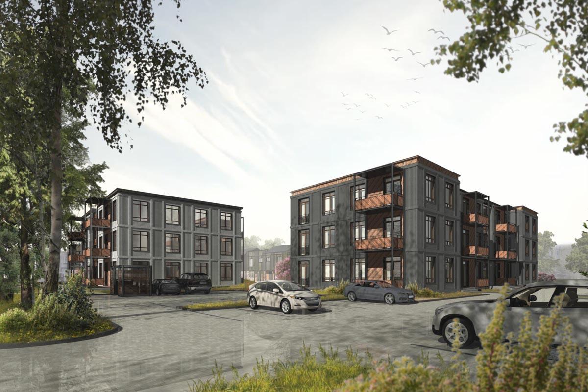 vizualizācija arhitektūra projekts dzīvojamā ēka