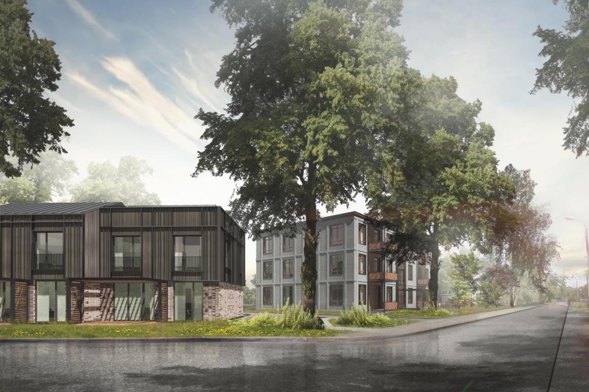 dzīvojamo māju projekts Čiekuru iela Mežaparks