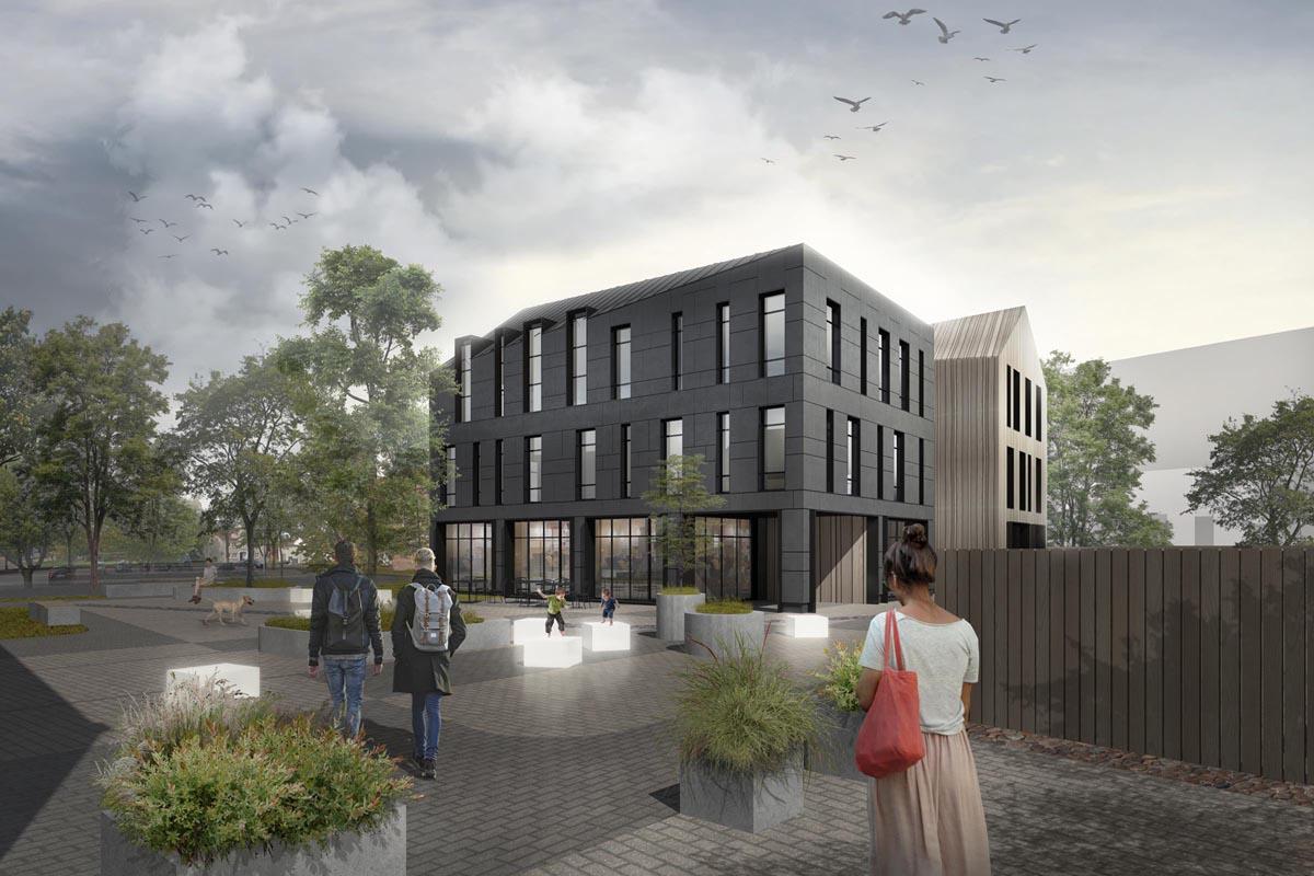 Biroju ēkas 3D vizualizācija